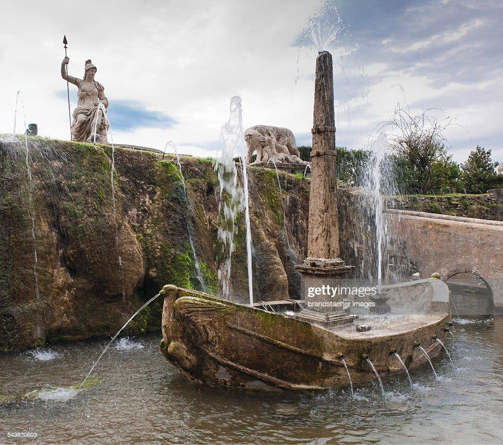 Garden Of The Villa D\'Este In Tivoli Pictures | Getty Images