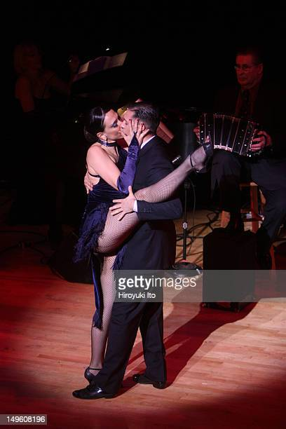 The Romulo Larrea Tango Ensemble presents 'Tangos From Gardel to Piazzolla' at Town Hall on Friday night April 29 2011This imageDancers Mariana...