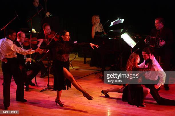 The Romulo Larrea Tango Ensemble presents 'Tangos From Gardel to Piazzolla' at Town Hall on Friday night April 29 2011This imageDancers from left...