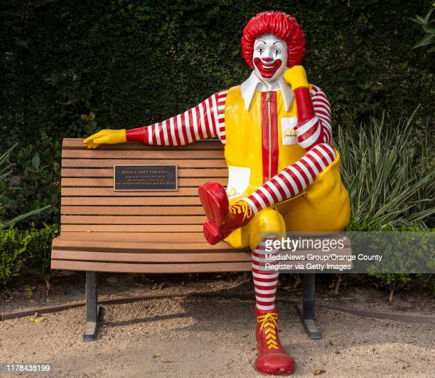 The Ronald McDonald bench on the playground is used by families to take photos at Ronald McDonald House Orange County in Orange on Monday September...