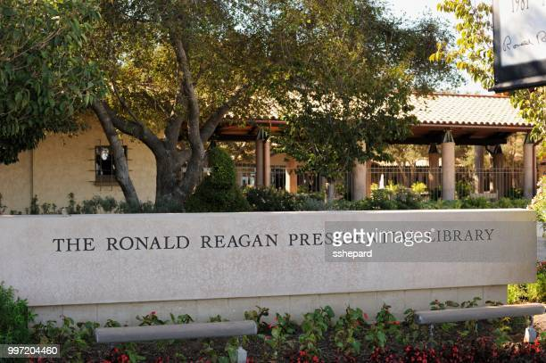 the ronald reagan presidential library - simi valley stock photos and pictures