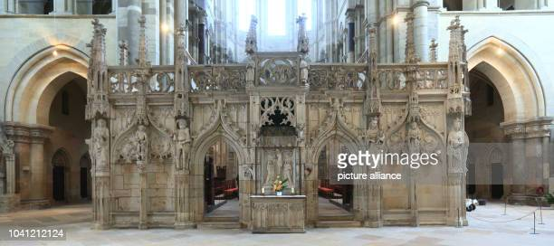 The rood screen at the Cathedral of Saints Catherine and Maurice in Magdeburg Germany 10 February 2016 Another donation by the German Foundation for...
