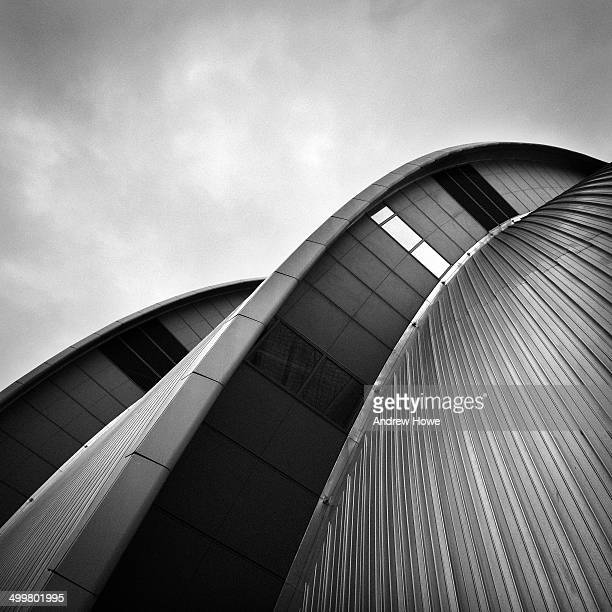 The roof detail of the Clyde Auditorium, Glasgow, also known by it's affectionate nickname 'The Armadillo'. It's a 1,100 seat concert venue, and was...