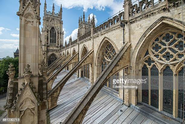 the roof detail of york minster - tradition stock pictures, royalty-free photos & images