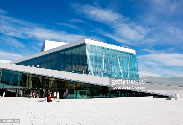CONTENT] The roof of the building angles to ground level creating a large plaza inviting pedestrians to walk up and enjoy the panoramic views of Oslo...
