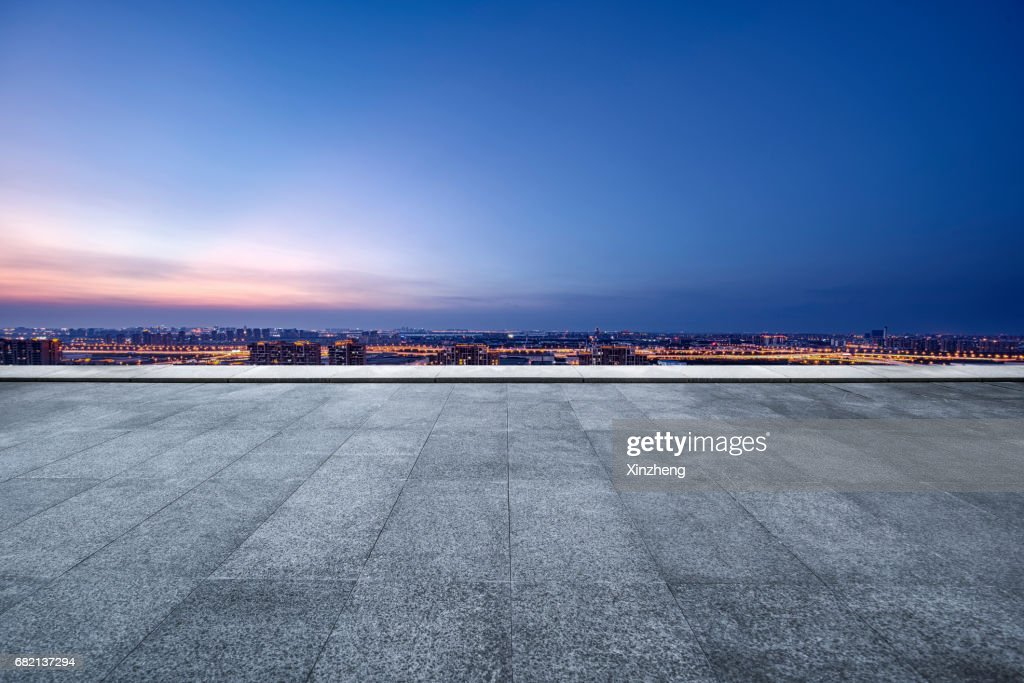 The roof Parking lot : Stock Photo