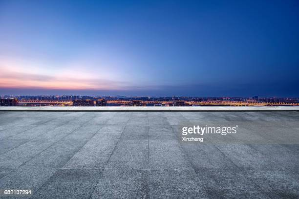 the roof parking lot - dusk stock pictures, royalty-free photos & images