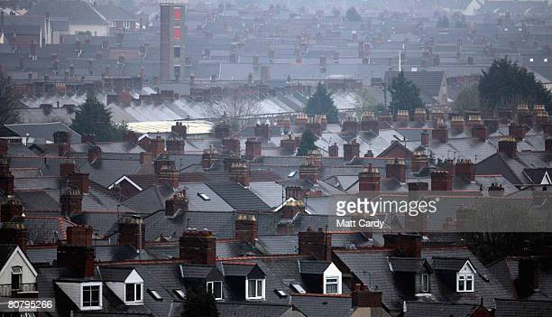 The roof tops of houses in residential streets on April 21 2008 in Newport Wales A poll by researchers Fitch has revealed 10 subprime blackspots...