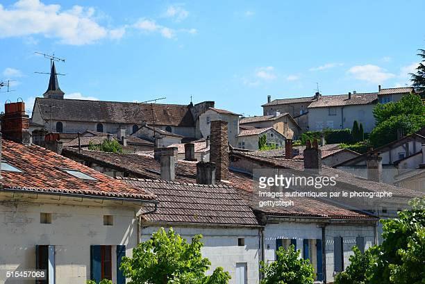 the roofs of aubeterre - charente stock pictures, royalty-free photos & images