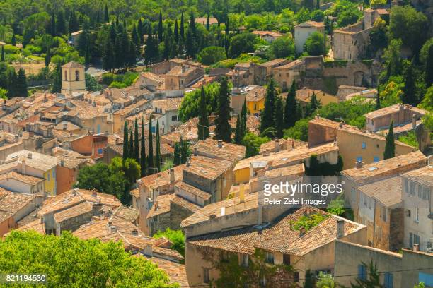 The roofs of Cotignac in Provence, France
