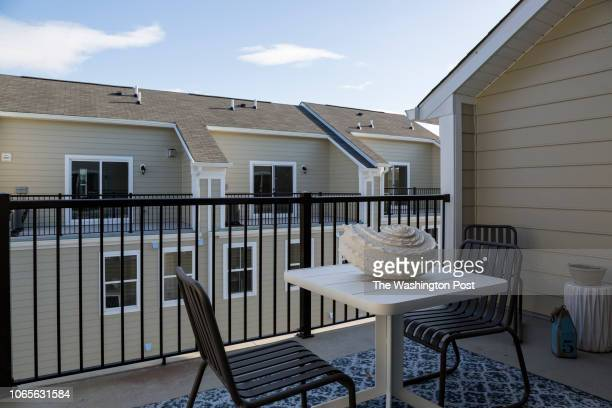 The Rooftop Deck on the model home at Annapolis Townes on November 20 2018 in Annapolis Maryland