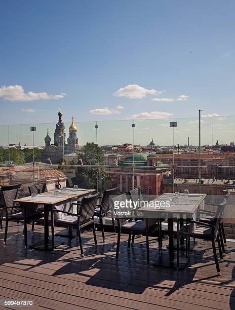 The rooftop Restaurant in St. Petersburg