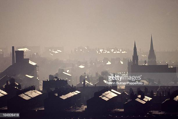 The rooftops of Wakefield in West Yorkshire circa 1977