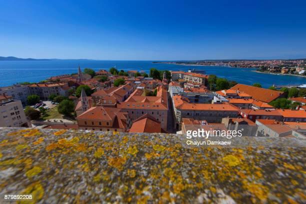 The rooftops of Zadar, Croatia