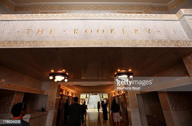 The Rookery Building lobby entrance, in Chicago, Illinois on JULY 19, 2013.