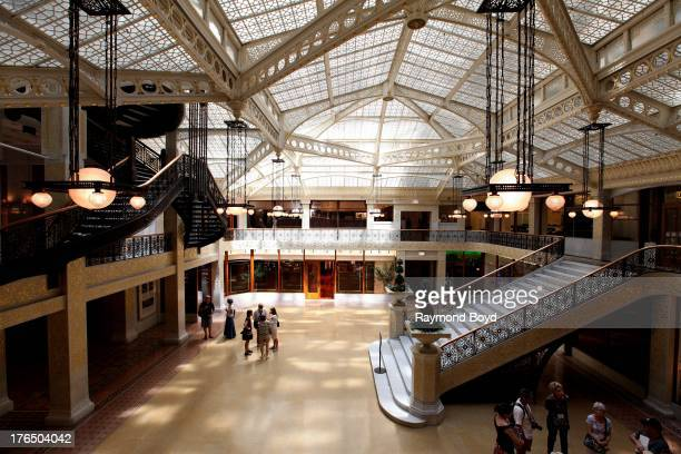 The Rookery Building's central light court and lobby, remodeled in1905 by famed architect Frank Lloyd Wright in Chicago, Illinois on JULY 19, 2013.
