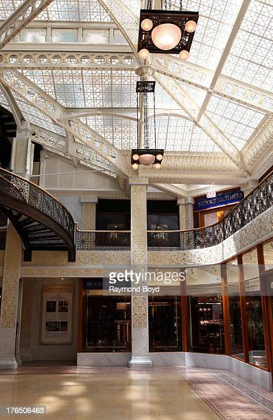 The Rookery Building's central light court and lobby, remodeled in1905 by famed architect Frank Lloyd Wright in Chicago, Illinois on JULY 24, 2013.