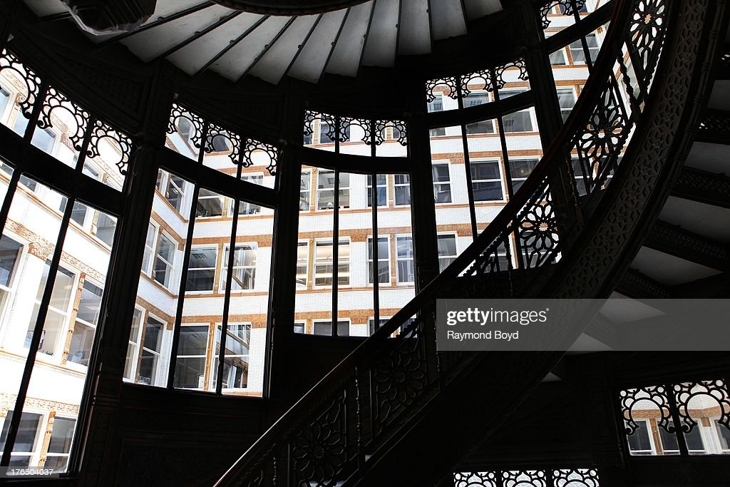 The Rookery Buildingu0027s Famed Spiral Staircase In Chicago Illinois On JULY  19 2013