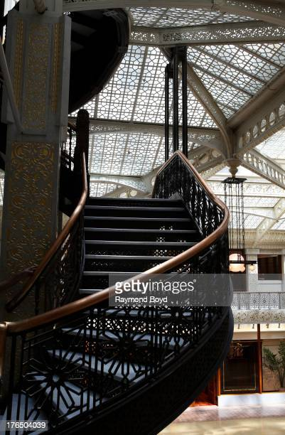 The Rookery Building's staircase, in Chicago, Illinois on JULY 19, 2013.