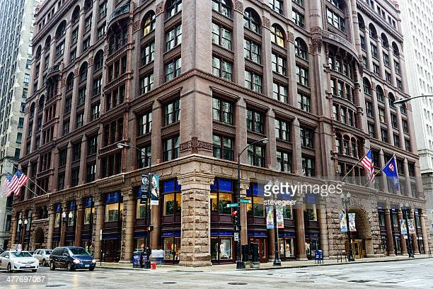 the rookery, downtown chicago - rookery chicago stock pictures, royalty-free photos & images