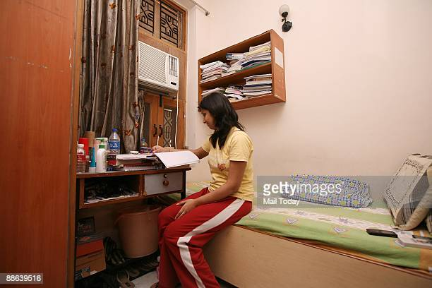 The room of a private girls� hostel in Kamala Nagar