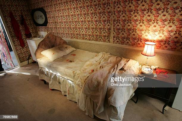 The room of a sex worker is seen as part of an art installation entitled 'The Journey Against Sex Trafficking' in Trafalgar Square on September 24...