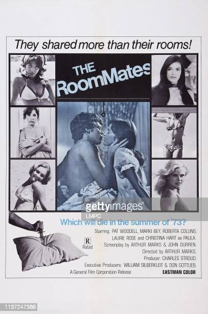 The Roommates poster US poster art left from top Marki Bey Roberta Collins Christina Hart right from top Pat Woodell Connie Strickland 1973