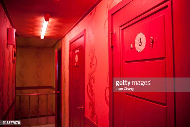 The rooms inside a brothel in Miari red light district on March 31 2016 in Seoul South Korea South Korea's Constitutional Court ruled in a 63 vote...