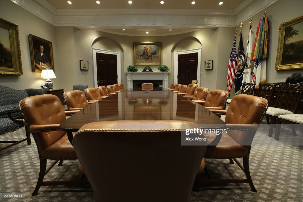 The Roosevelt Room Of The White House Is Seen After Renovations August 22  2017 In Washington
