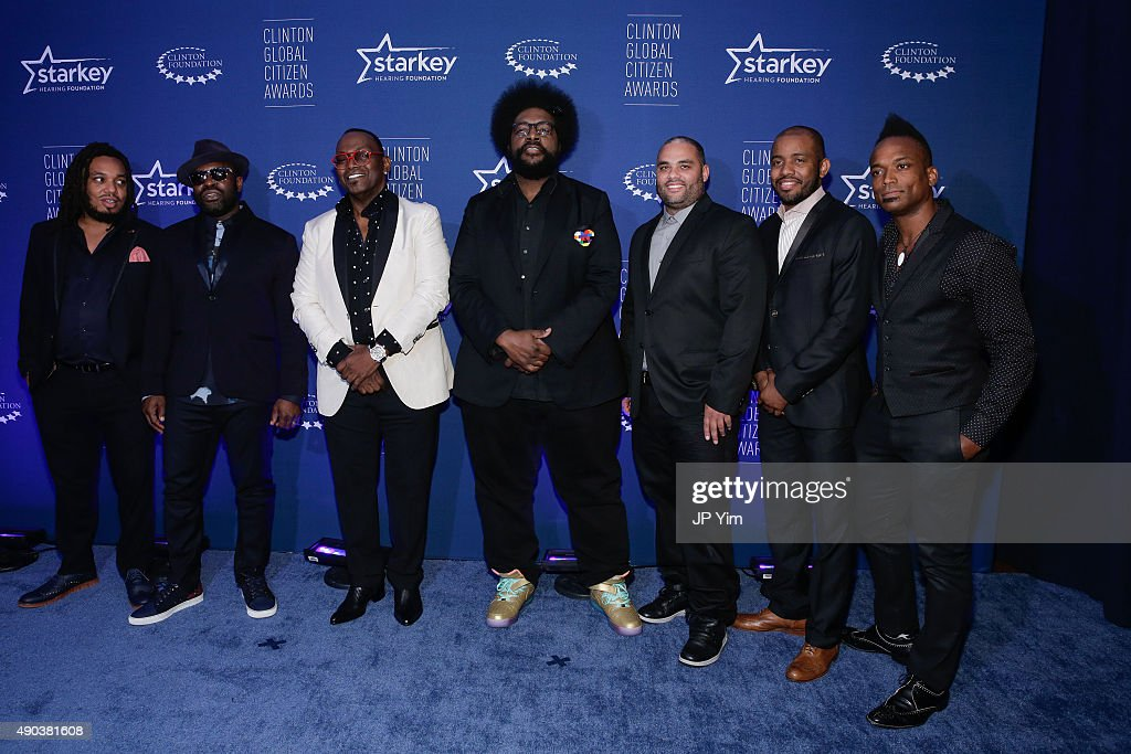 The Roots and Randy Jackson (3rd from Left) attend the Clinton Global Citizen Awards during the second day of the 2015 Clinton Global Initiative's Annual Meeting at the Sheraton New York Hotel & Towers on September 27, 2015 in New York City.