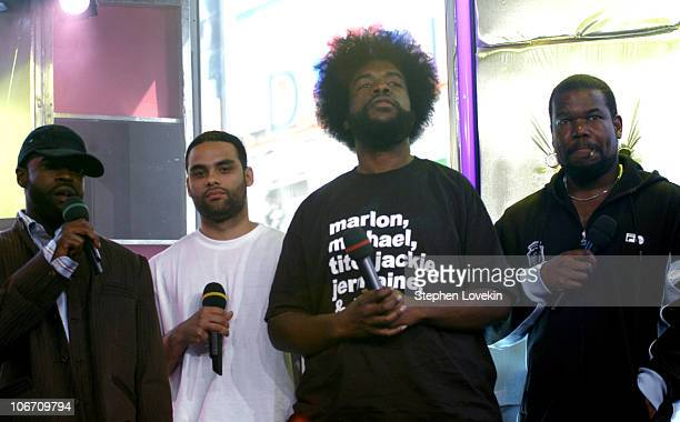 The Roots during 'Direct Effect' Presents Straight Up HipHop All Week at MTV Studios April 22 2004 at MTV Studios in New York City New York United...
