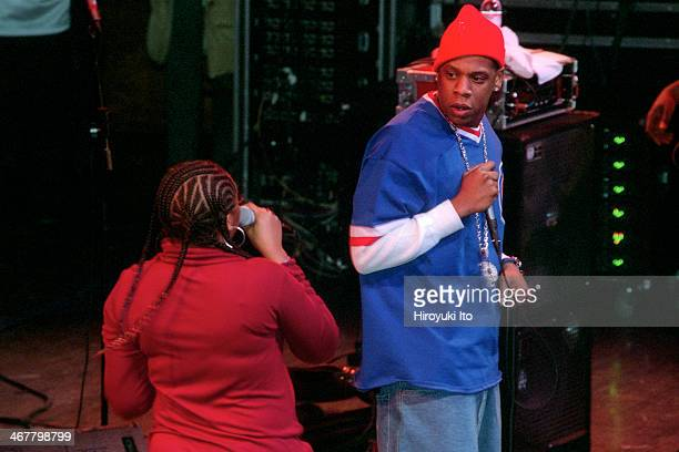 The Roots with special guests performing at Avery Fisher Hall on Thursday night January 17 2002This imageJay Z with Jaguar Wright