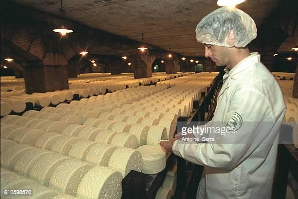 The Roquefort Soci{t{ cellar