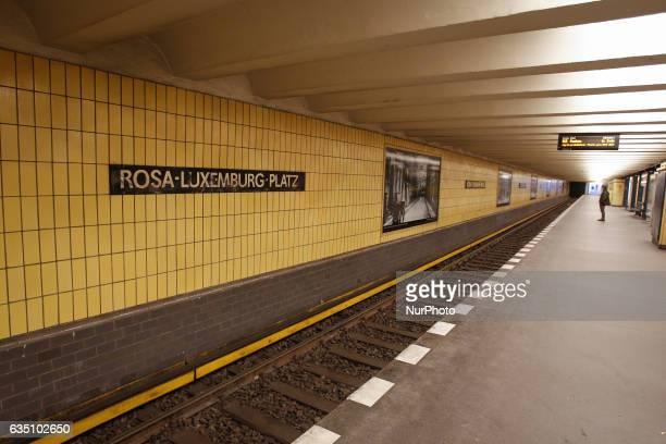 The RosaLuxemburgPlatz metro station is seen in Berlin on 13 February 2017