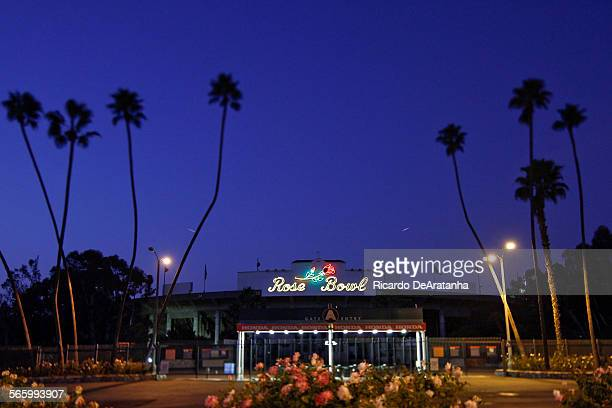 PASADENA CA – NOVEMBER 15 2011 – The Rose Bowl November 15 2011 Now nearing 90 the Rose Bowl is in the middle of a big renovation but the sports...