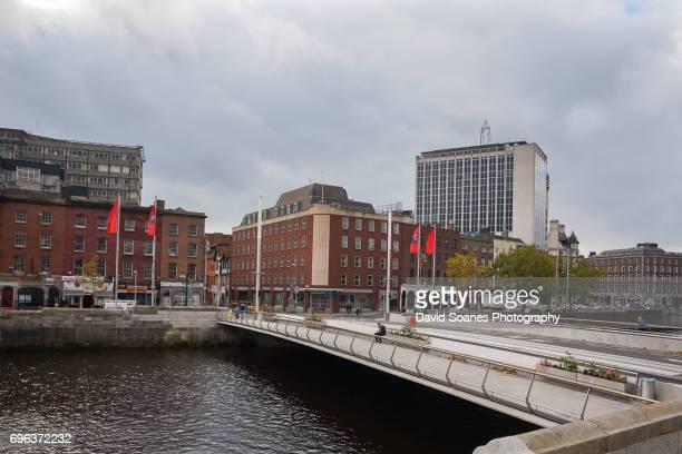 the rosie hackett bridge in dublin city, ireland - hackett stock photos and pictures