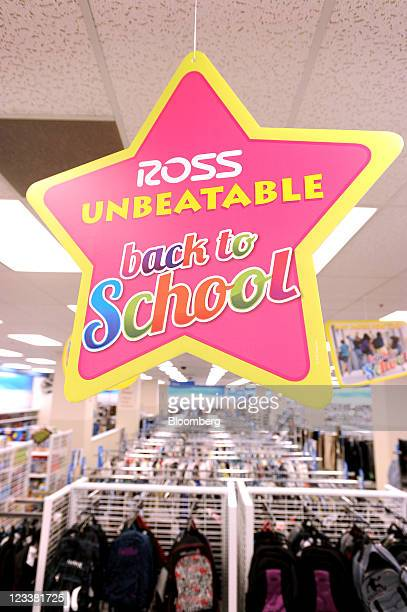 The Ross Stores Inc logo is displayed on a 'back to school' sign at a location in San Francisco California US on Wednesday Aug 31 2011 Ross Stores...