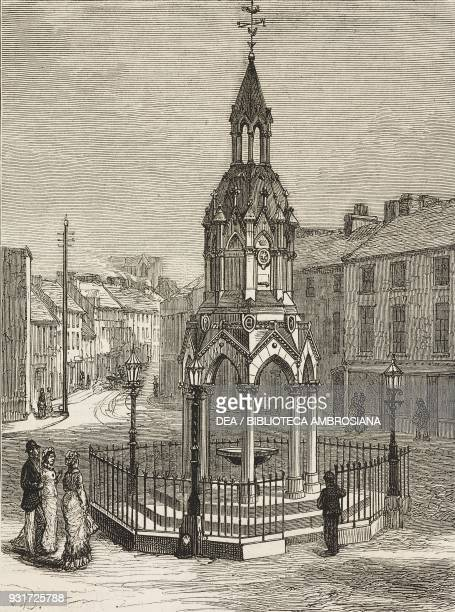 The Rossmore memorial fountain at Monaghan unveiled by the Duke of Connaught October 5 Ireland illustration from the magazine The Graphic volume XVI...