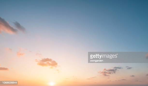 the rosy clouds at sunrise - sky only stock pictures, royalty-free photos & images