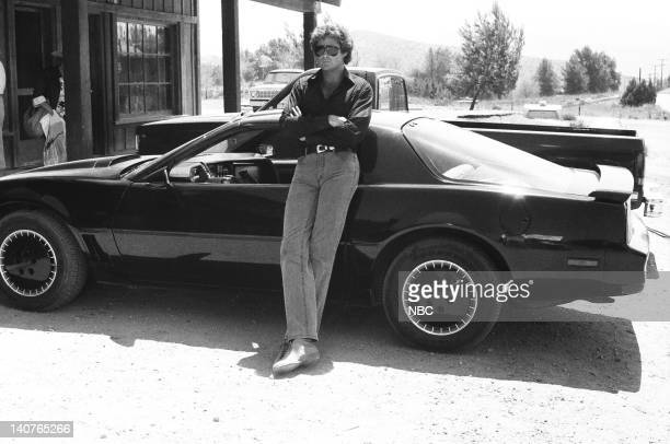 RIDER 'The Rotten Apples' Episode 7 Pictured David Hasselhoff as Michael Knight and KITT Photo by NBCU Photo Bank