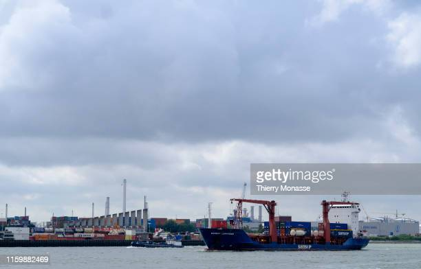 The Rotterdam harbor sightseeing tour on August 2 2019 Here is the Samskip Commander a General Cargo Ship built in 1997 and currently sailing under...