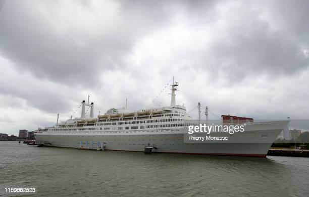 The Rotterdam harbor sightseeing tour on August 2 2019 The fifth SS Rotterdam is a Dutch transatlantic liner built for the Holland America Line in...