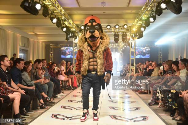 The Rottweiler participates in a runway show for the premiere of Fox's The Masked Singer Season 2 at The Bazaar at the SLS Hotel Beverly Hills on...