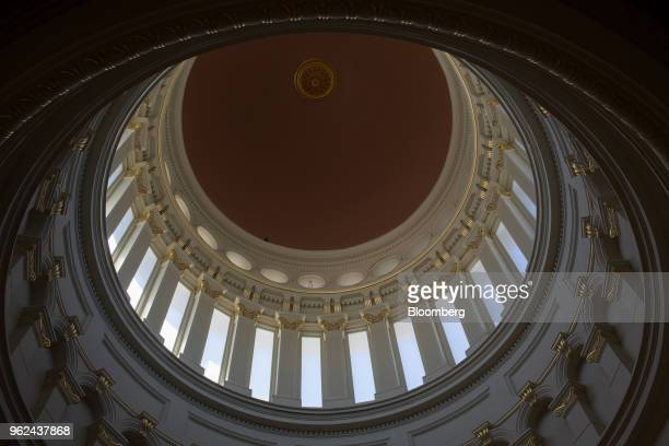 The rotunda of the New Jersey State Capitol building is seen during renovations in Trenton New Jersey US on Thursday May 14 2018 Governor Phil Murphy...