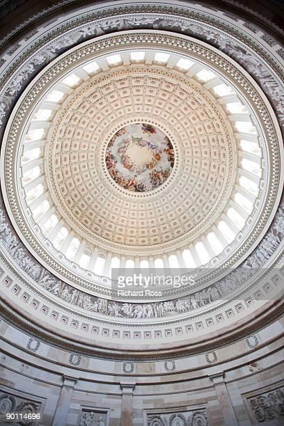 the rotunda of the united states capital building - united states capitol rotunda stock pictures, royalty-free photos & images