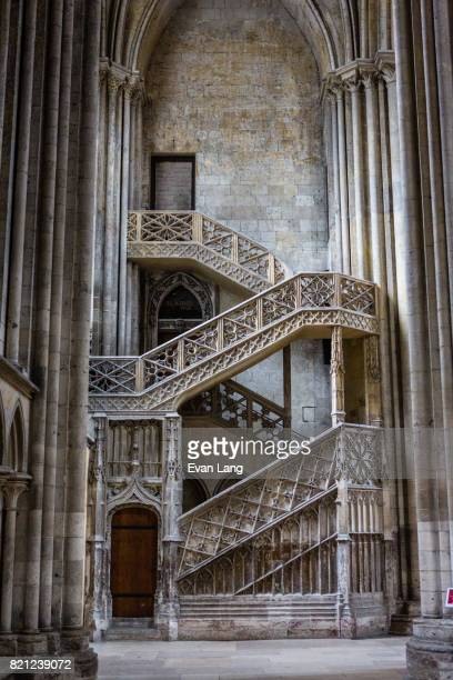 the rouen cathedral - rouen stock pictures, royalty-free photos & images