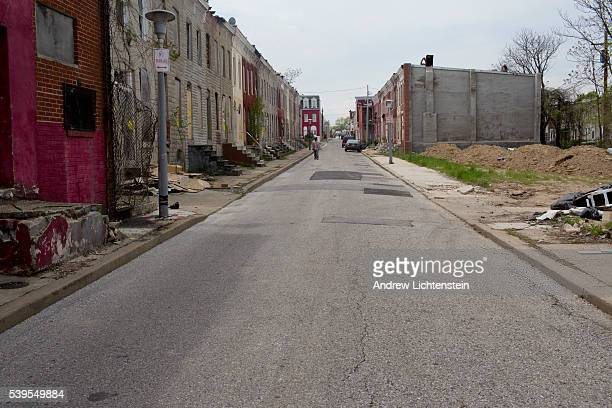 The rough streets of North West Baltimore are filled with abandoned houses Mistrust of the police is a often based on personal experiences by the...
