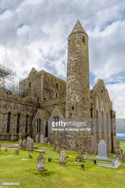 The Round tower (28 meters, or 90 feet), dating from c.1100 at the Rock of Cashel, Co. Tipperary, Republic of Ireland.