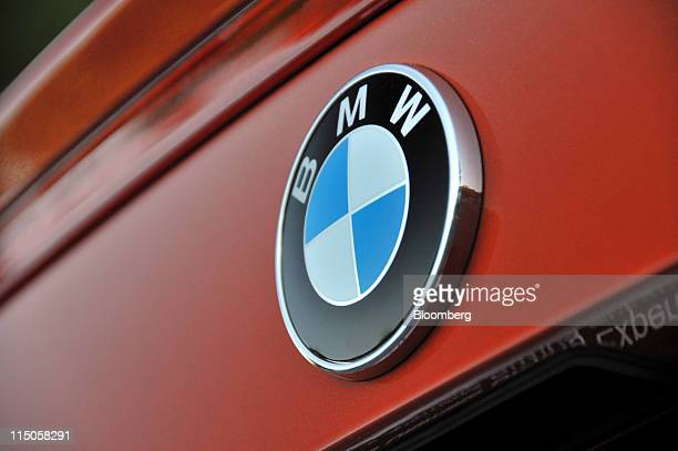 The Roundel of the 2011 BMW 1M coupe is seen near Monticello New York US on Tuesday May 10 2011 Powered by a 335horsepower twin turbocharged...