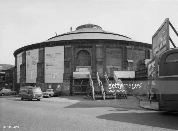 The Roundhouse, a former railway engine shed in Chalk Farm, London, 15th August 1967. The building has been leased to playwright Arnold Wesker's...